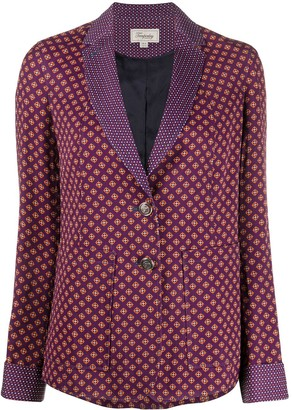 Temperley London Cecilia geometric print blazer
