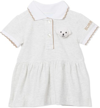 BURBERRY KIDS Thomas Bear Detail Stretch Cotton Dress with Bloomers