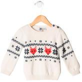 Petit Bateau Boys' Patterned Wool Sweater