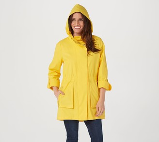 Nuage Solid Zip & SnapFront Jacket with Removable Hood