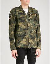 Amiri Military Regular-fit Cotton And Cashmere-blend Shirt