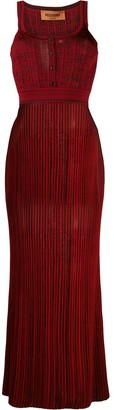 Missoni Sleeveless Pleated Maxi Dress