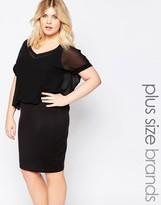 Junarose Plus Dress With Sheer Overlay