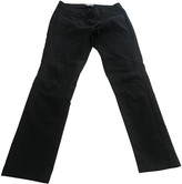 Marella Black Cotton Trousers for Women