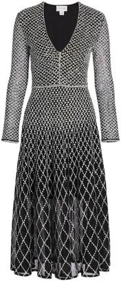 St. John Diamond-Knit Midi Dress