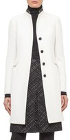 Akris Punto Women's Wool Coat With Leather Trim