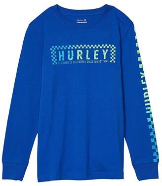 Hurley Long Sleeve Graphic T-Shirt (Big Kids) (Game Royal) Boy's Clothing