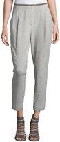 Brunello Cucinelli Jodhpurs Monili-Trim Pants, Light Gray