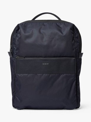 SANDQVIST Valdemar Recycled Nylon Backpack, Black