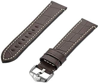 Hirsch 109228-10-22 22 -mm Genuine Calfskin Alligator Embossed Watch Strap