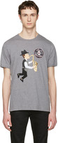 Dolce & Gabbana Grey 'Love Is Beautiful' Sax Player T-Shirt