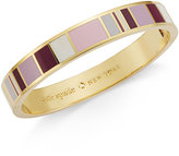 Kate Spade Gold-Tone Mauve-Hued Hinged Bangle Bracelet