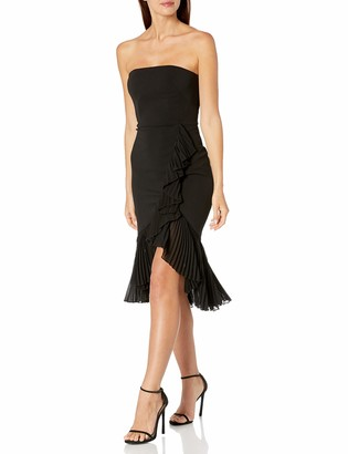 Carmen Marc Valvo Women's Strapless Ruffle Dress