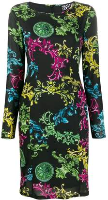 Versace fitted baroque-print dress