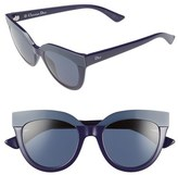 Christian Dior Women's 51Mm Cat Eye Sunglasses - Blue