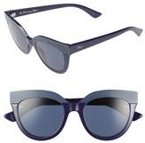Christian Dior Women's Soft 1 51Mm Cat Eye Sunglasses - Blue