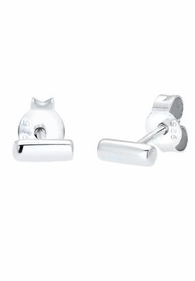 Elli Earrings Circle Geo Minimalist 925 Sterling Silver