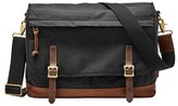 Fossil Men's Canvas Messenger Bag - Black