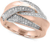Effy Pavé Rose by Diamond Statement Ring (3/8 ct. t.w.) in 14k Rose Gold