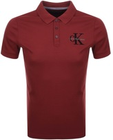 Calvin Klein Padd Polo T Shirt Red