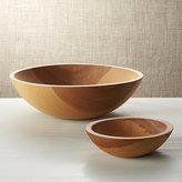 Crate & Barrel Holland Wood Salad Bowls