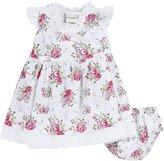 Jo-Jo JoJo Maman Bebe Wrap Dress W/ Knickers (Baby)-Pink-3-6 Months