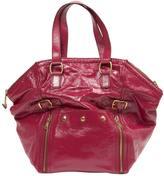 Saint Laurent Downtown patent leather tote