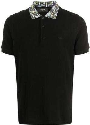 Fendi FF collar polo shirt