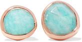 Monica Vinader Siren Rose Gold Vermeil Amazonite Earrings - Turquoise