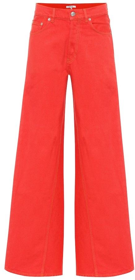 Ganni High-waisted flared jeans