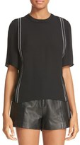 3.1 Phillip Lim Women's Embroidered Silk Top