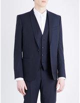 The Kooples Shawl Lapel Slim-fit Pinstriped Wool Jacket