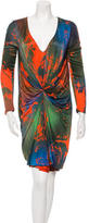 Matthew Williamson Printed Long Sleeve Dress