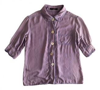 Louis Vuitton Purple Viscose Tops
