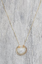 Lotus Amulet Necklace with White Moonstone