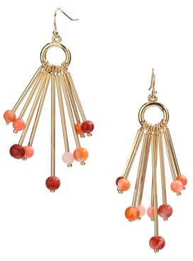 Style&Co. Style & Co Gold-Tone Beaded Stick Chandelier Earrings, Created for Macy's
