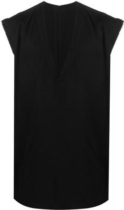 TAKAHIROMIYASHITA TheSoloist. Sleeveless Silk Side-Button Shirt