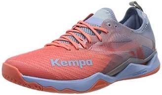 Kempa Wing Lite 2.0 Women, Women's Handball Shoes Handball Shoes, Multicoloured (Coral/Lilac Grey 01), (39 EU)