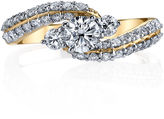 Sirena Womens 1 CT. T.W. Genuine Round White Diamond 14K Gold Engagement Ring