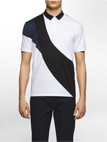Calvin Klein Platinum Slim Fit Mesh Inset Tri-Color Polo Shirt