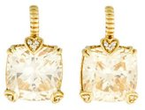 Judith Ripka 18K Lola Canary Crystal and Diamond Earrings
