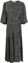 Essentiel Antwerp Vanessa polka-dot wrap maxi dress