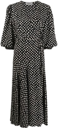 Essentiel Antwerp Vanessa polka-dot wrap maxi dress