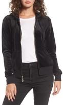 Juicy Couture Women's Robertson Ultra Luxe Velour Zip Hoodie