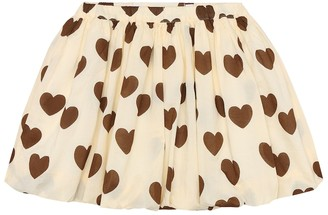 Mini Rodini Hearts printed cotton skirt