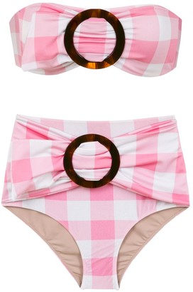 Adriana Degreas Plaid Bikini Set