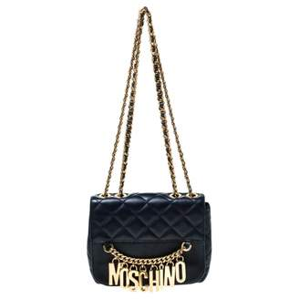 Moschino Navy Leather Handbags