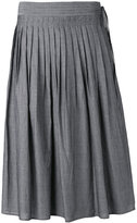 Vince striped pleated skirt - women - Cotton - XS