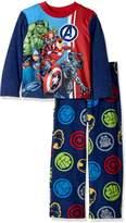 Marvel Big Boys' Avengers 2-Piece Fleece Pajama Set
