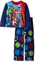 Marvel Little Boys' Avengers 2-Piece Fleece Pajama Set